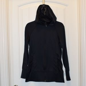 Mondetta Ladies Long Zip Up Hoodie Black Small